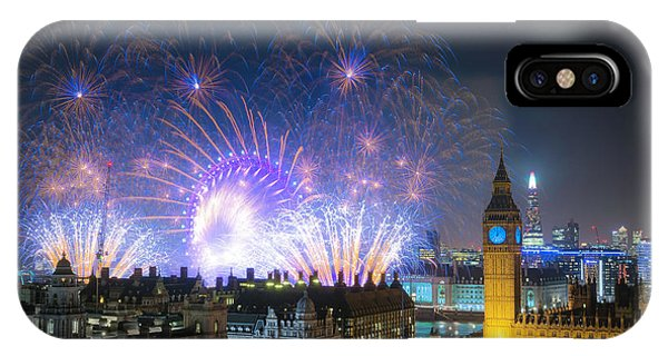 New Year Fireworks IPhone Case
