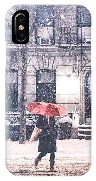 New York City Snow IPhone Case