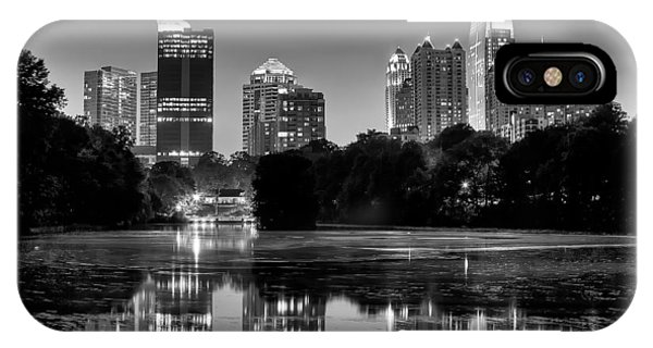 Night Atlanta.piedmont Park Lake. IPhone Case