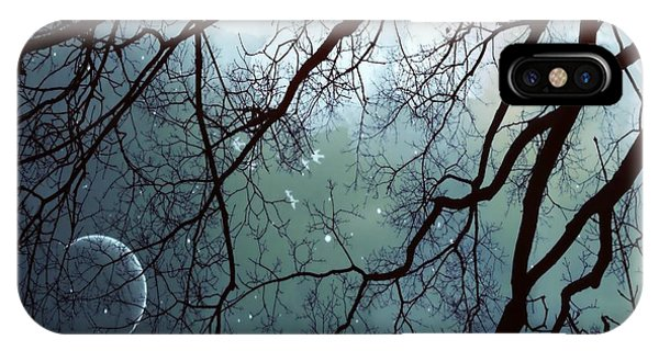 IPhone Case featuring the photograph Night Sky In The Woods by Marianna Mills