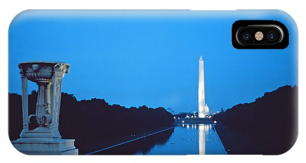 Night View Of The Washington Monument Across The National Mall IPhone Case