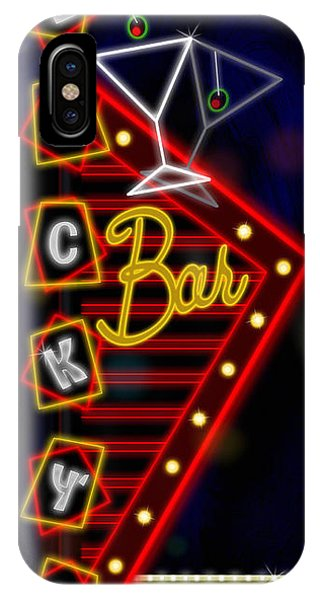 Nightclub Sign Luckys Bar IPhone Case