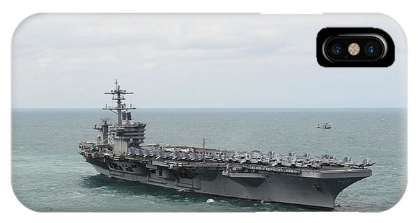 Sharpshooter iPhone Case - Nimitz-class Aircraft Carrier Uss Theodore Roosevelt by Celestial Images