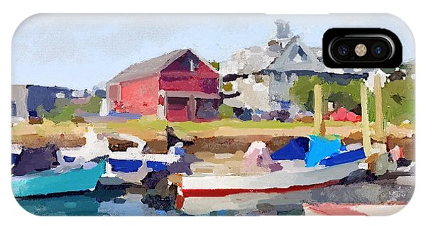 North Shore Art Association At Pirates Lane On Reed's Wharf From Beacon Marine Basin IPhone Case