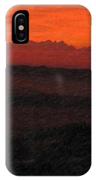 Pop Art iPhone Case - Not Quite Rothko - Blood Red Skies by Serge Averbukh
