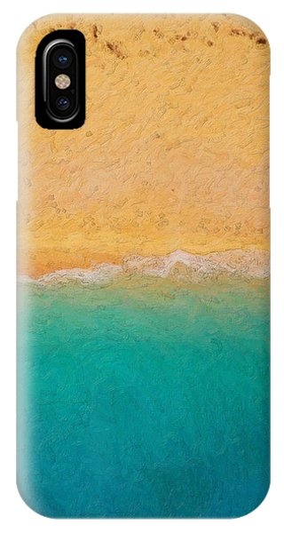 Pop Art iPhone Case - Not Quite Rothko - Surf And Sand by Serge Averbukh