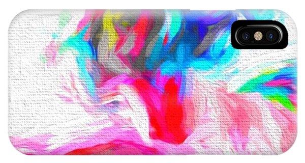 Impressionism iPhone Case - @nude_yogagirl #nudeyogagirl by David Haskett II