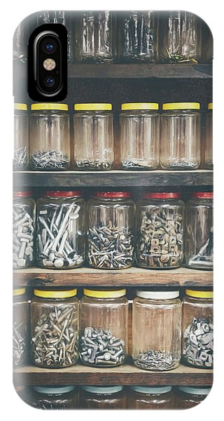 Indoors iPhone Case - Nuts And Bolts And Bolts And Nuts by Scott Norris