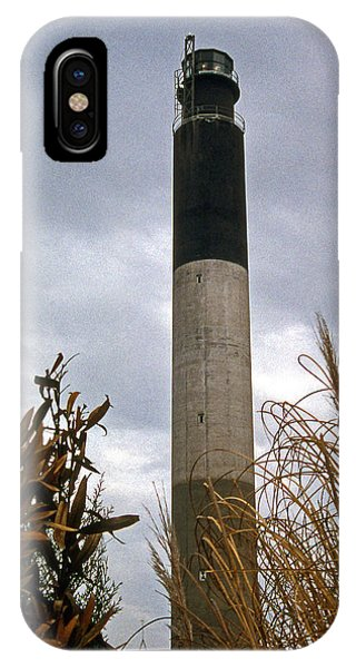 Lighthouse Wall Decor iPhone Case - Oak Island Lighthouse Nc by Skip Willits