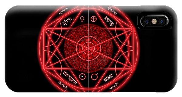 Worship iPhone Case - Occult Magick Symbol On Red By Pierre Blanchard by Pierre Blanchard