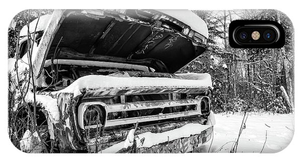 Transportation iPhone Case - Old Abandoned Pickup Truck In The Snow by Edward Fielding