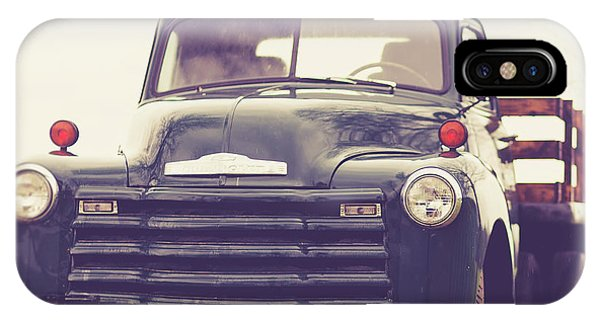 Green iPhone Case - Old Chevy Farm Truck In Vermont Square by Edward Fielding