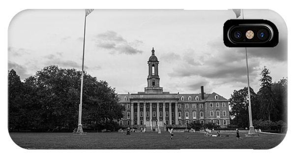 Old Main Penn State Black And White  IPhone Case