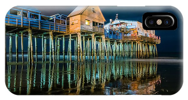 Old Orchard Dock Night Reflection IPhone Case