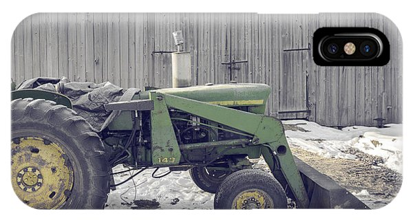 Etna iPhone Case - Old Tractor By The Grey Barn by Edward Fielding