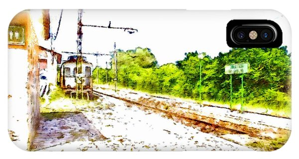 Pylon iPhone Case - Old Train On The Dead Platform by Giuseppe Cocco