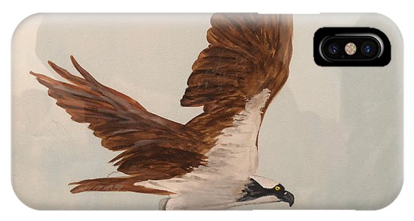IPhone Case featuring the painting Osprey by Donald Paczynski