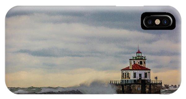 Oswego Harbor West Pierhead Light IPhone Case