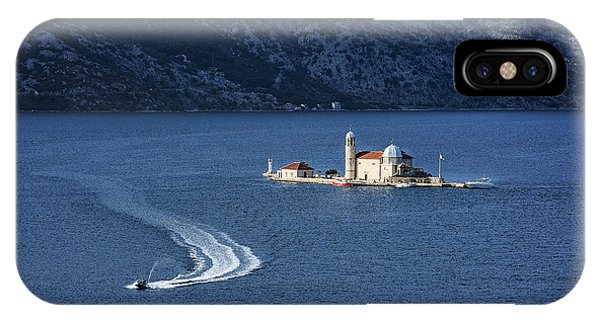 Jet Ski iPhone Case - Our Lady Of The Rocks Church by John Greim