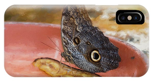 IPhone Case featuring the photograph Owl Butterfly 2 by Paul Gulliver
