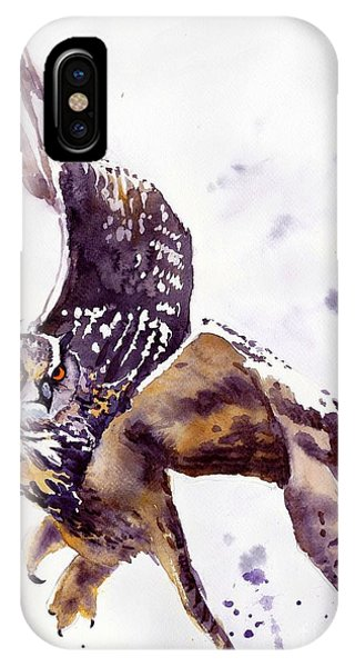 Wild Violet iPhone Case - Owl Watercolor by Suzann Sines