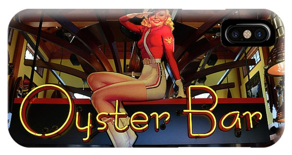 Oyster Bar iPhone Case - Oyster Bar Sign by David Lee Thompson