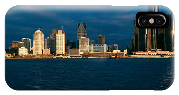 Renaissance Center iPhone Case - Panoramic Sunrise View Of Renaissance by Panoramic Images