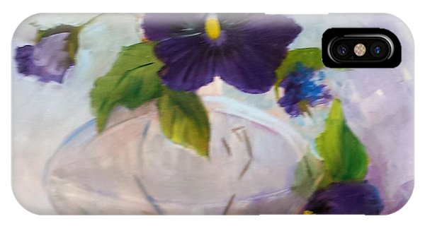 Pansies In Glass IPhone Case
