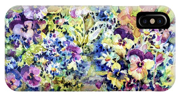 Pansy Path IPhone Case