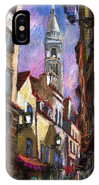 Pastel iPhone Case - Paris Montmartre  by Yuriy Shevchuk