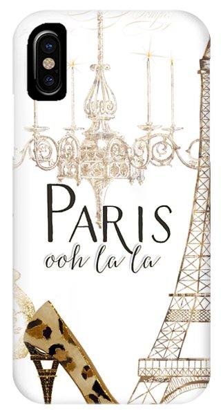 Paris iPhone Case - Paris - Ooh La La Fashion Eiffel Tower Chandelier Perfume Bottle by Audrey Jeanne Roberts