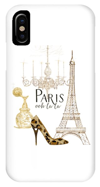 Paris iPhone Case - Paris - Ooh La La Fashion Eiffel Tower Chandelier Perfume Bottle by Audrey Jeanne Roberts