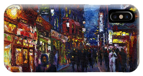 iPhone Case - Paris Quartier Latin 01 by Yuriy Shevchuk