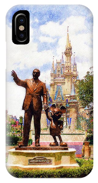 Castle iPhone X / XS Case - Partners by Sandy MacGowan