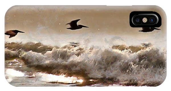 IPhone Case featuring the photograph Pelican Patrol by Jim Proctor