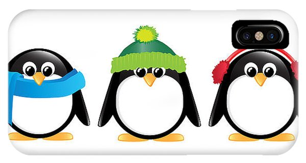 Penguin iPhone Case - Penguins Isolated by Jane Rix