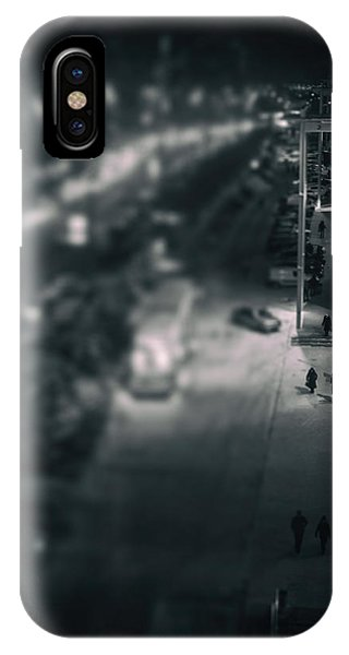 People At Night From Arerial View IPhone Case