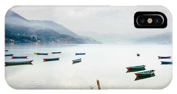 Phewa Lake In Pokhara, Nepal IPhone Case