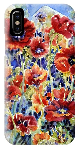 Picket Fence Poppies IPhone Case