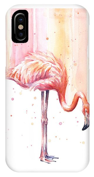 Pink Flamingo - Facing Right IPhone Case