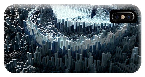 Virtual iPhone Case - Pixel Ethereum Concept by Allan Swart