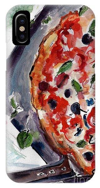 Pizza Diptych Original Italian Food Left Half IPhone Case
