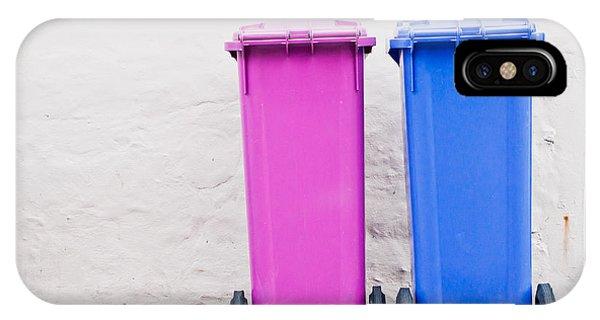 Rubbish Bin iPhone Case - Plastic Bins by Tom Gowanlock