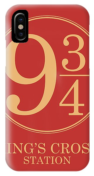 Platform Nine And Three Quarters - Harry Potter Wall Art IPhone Case