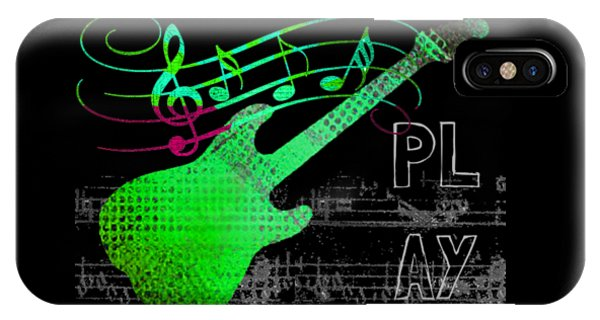 IPhone Case featuring the digital art Play 3 by Guitar Wacky