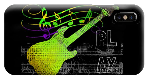IPhone Case featuring the digital art Play 1 by Guitar Wacky