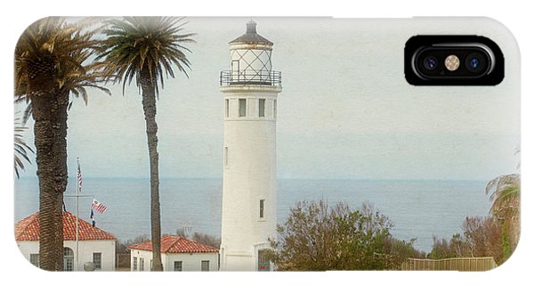 Point Vincente Lighthouse, California In Retro Style IPhone Case