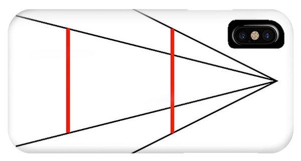Visual Illusion iPhone Case - Ponzo's Illusion by