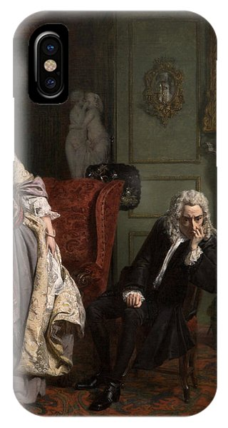 20th Century Man iPhone Case - Pope Makes Love To Lady Mary Wortley Montagu by William Powell Frith