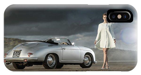 Porsche 356 Speedster With Model IPhone Case
